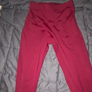Pants - RED SIZE SMALL YOGA LEGGINGS